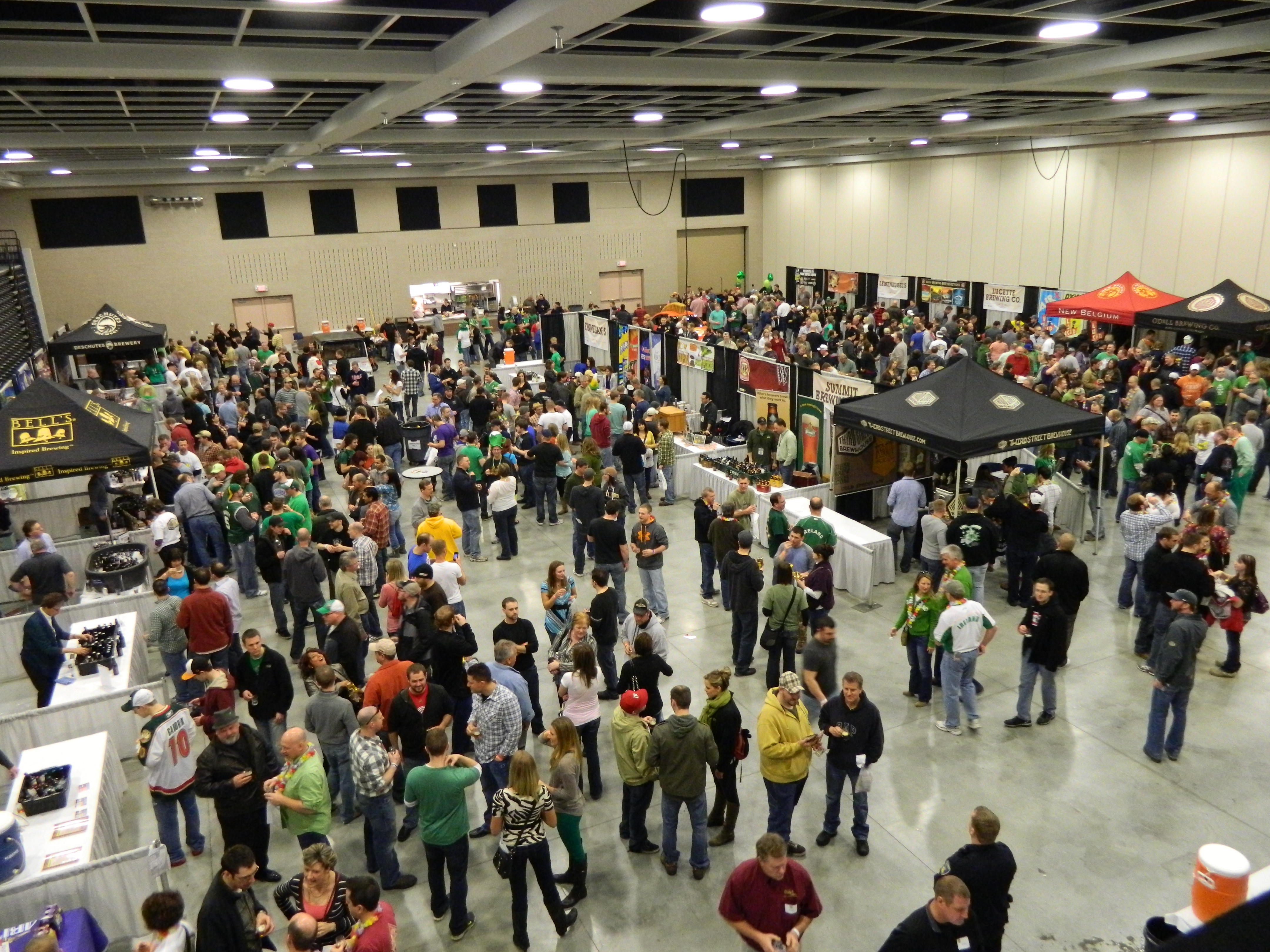 Aerial view of St. Cloud Craft Beer Tour 2013 in convention hall
